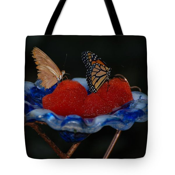 Tote Bag featuring the photograph Butterfly Fruit by Richard Bryce and Family