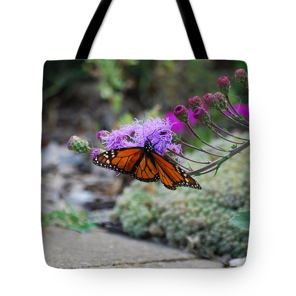 Tote Bag featuring the photograph Butterfly Garden by Ramona Whiteaker