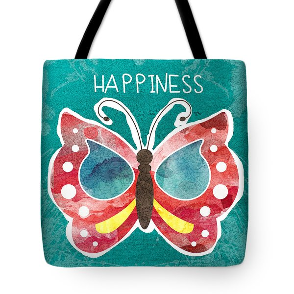 Butterfly Happiness Tote Bag