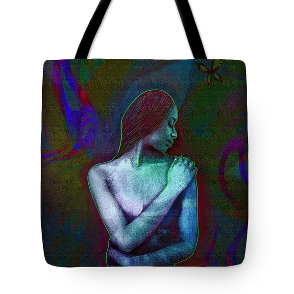 Butterfly Hearts II Tote Bag by AC Williams
