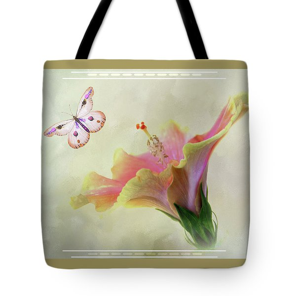 Butterfly Hibiscus Art II Tote Bag