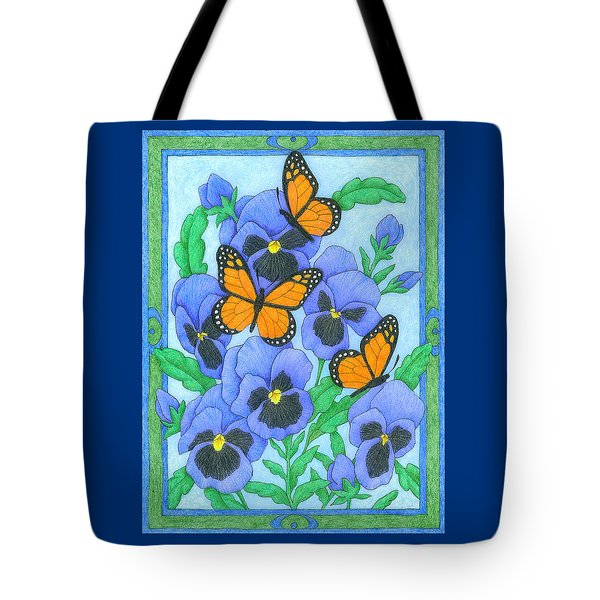 Butterfly Idyll-pansies Tote Bag