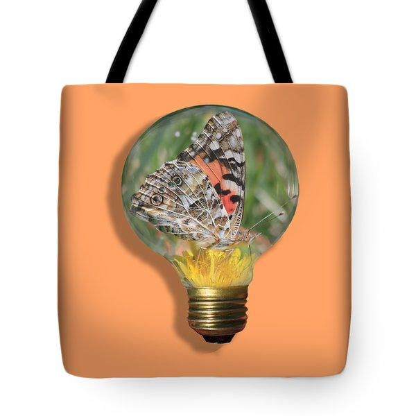 Butterfly In A Bulb II Tote Bag