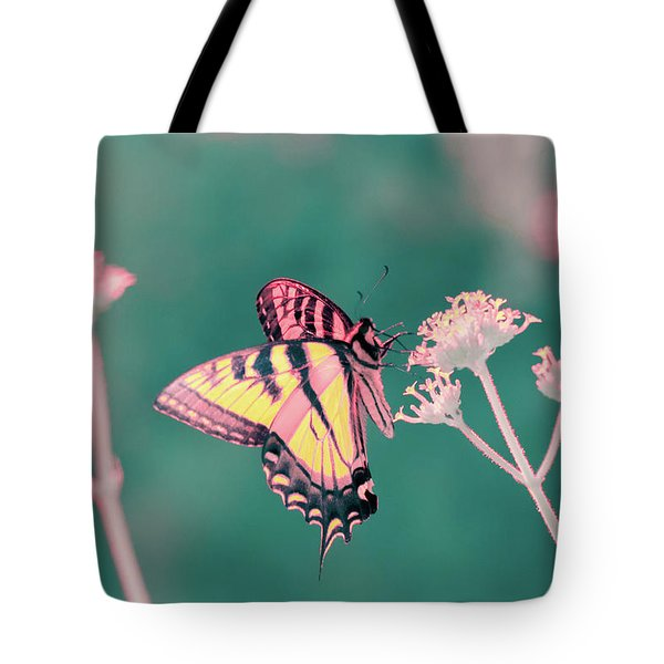Tote Bag featuring the photograph Butterfly In Infrared by Brian Hale