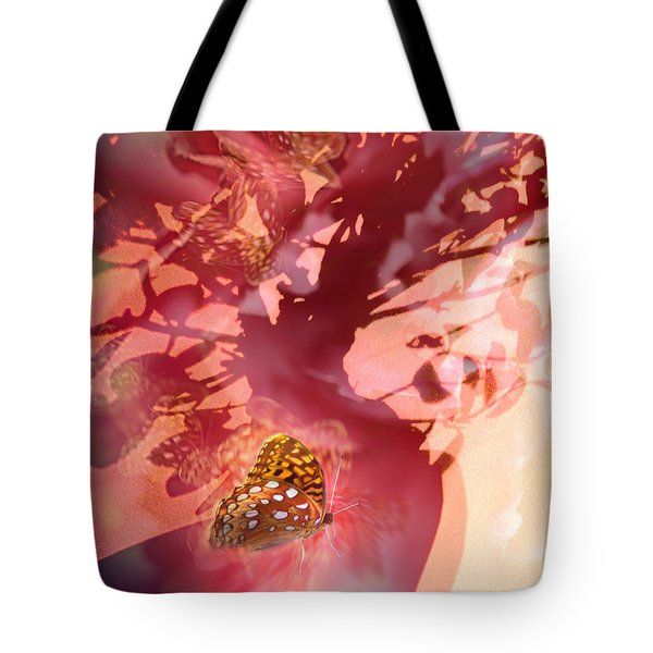 Butterfly In Shadow  Tote Bag