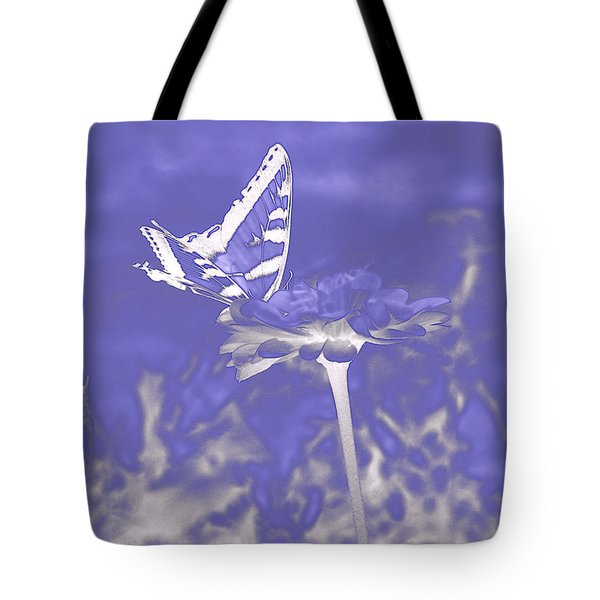 Butterfly In The Mist Tote Bag