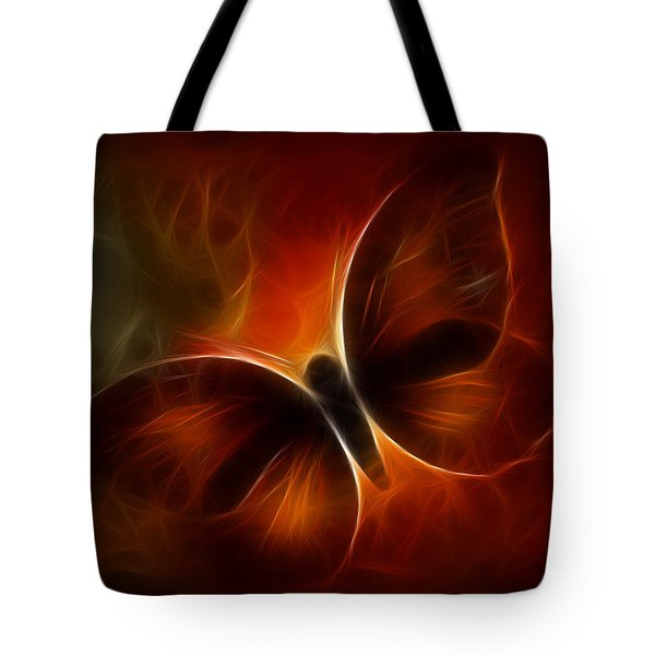 Tote Bag featuring the digital art Butterfly Kisses by Holly Ethan