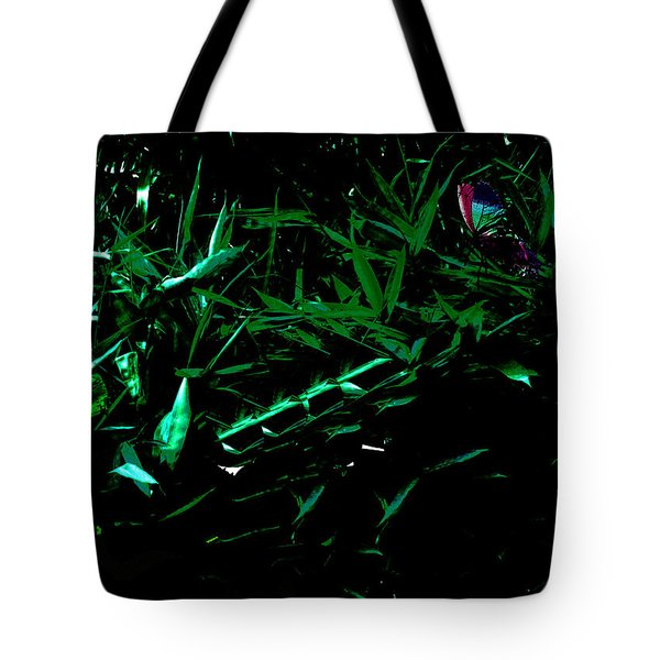 Tote Bag featuring the digital art Butterfly Lanscape by Asok Mukhopadhyay