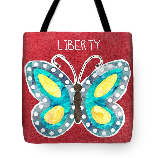 Butterfly Liberty Tote Bag by Linda Woods