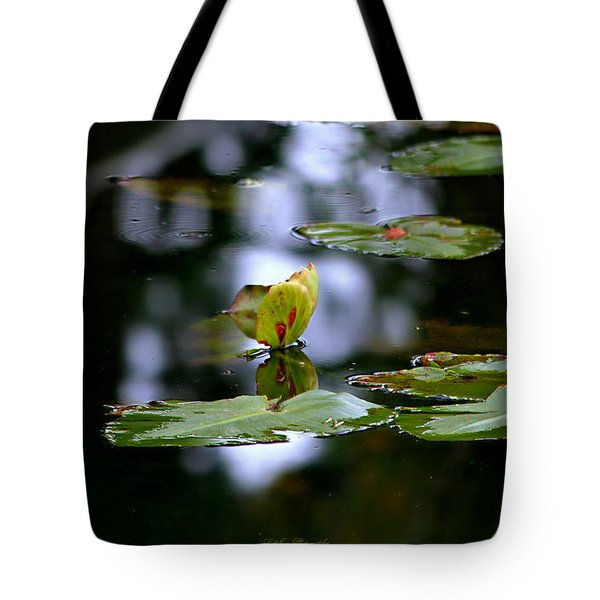Butterfly Lily Pad Tote Bag