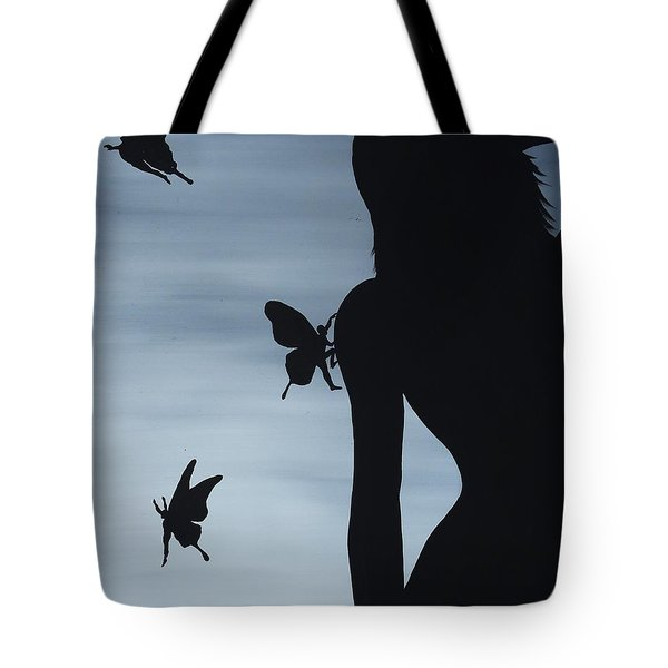 Butterfly Men Tote Bag