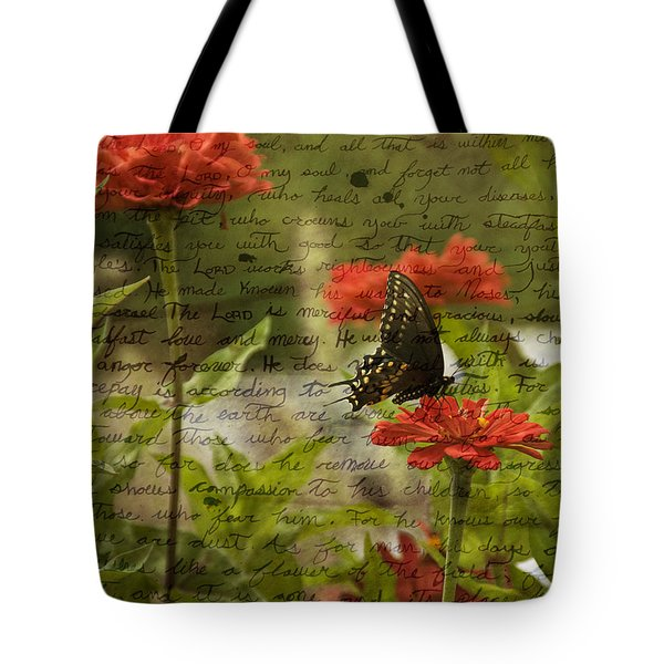 Butterfly Notes Tote Bag