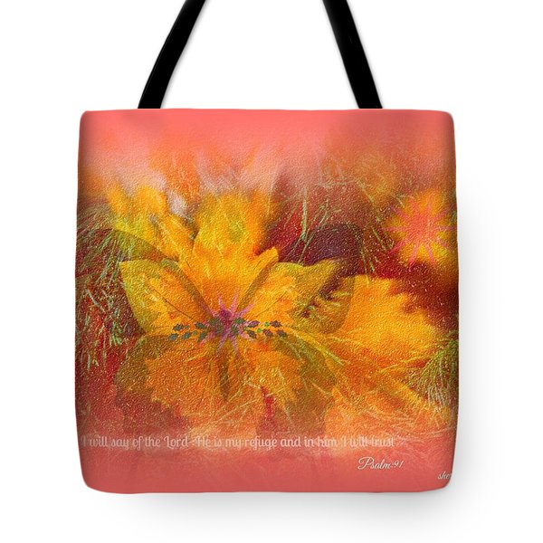 Butterfly Of Love And Peace Tote Bag