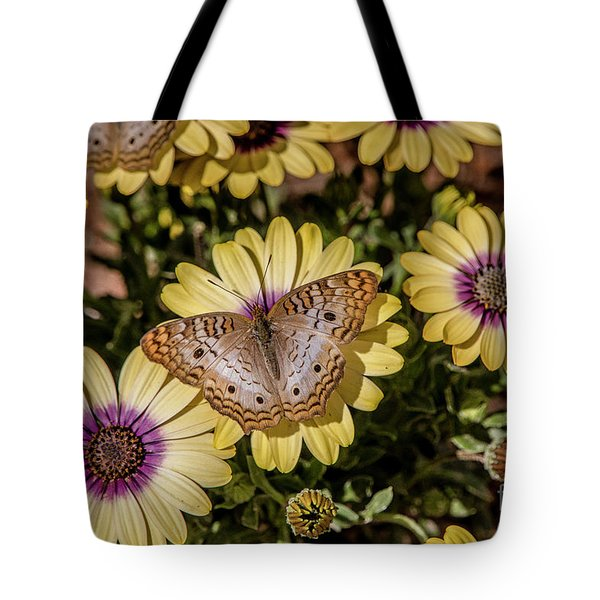 Butterfly On Blossoms Tote Bag