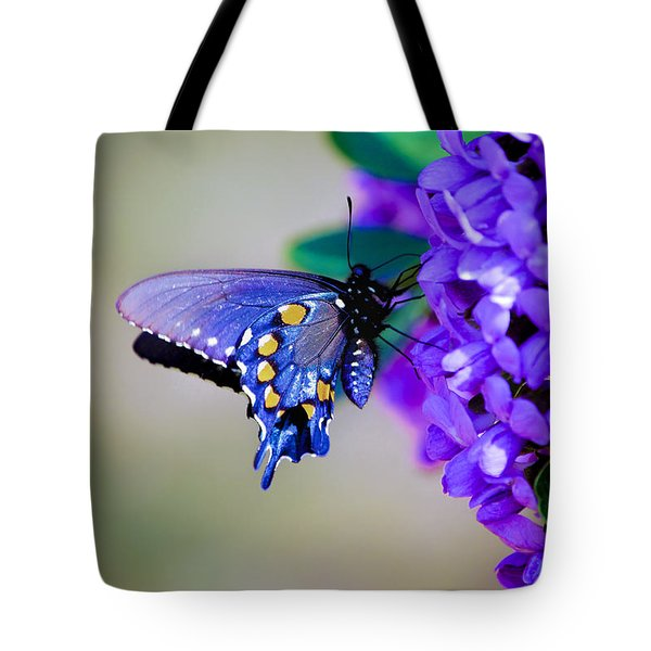 Butterfly On Mountain Laurel Tote Bag