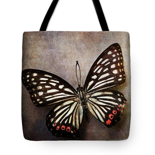 Butterfly Over Textured Background Tote Bag