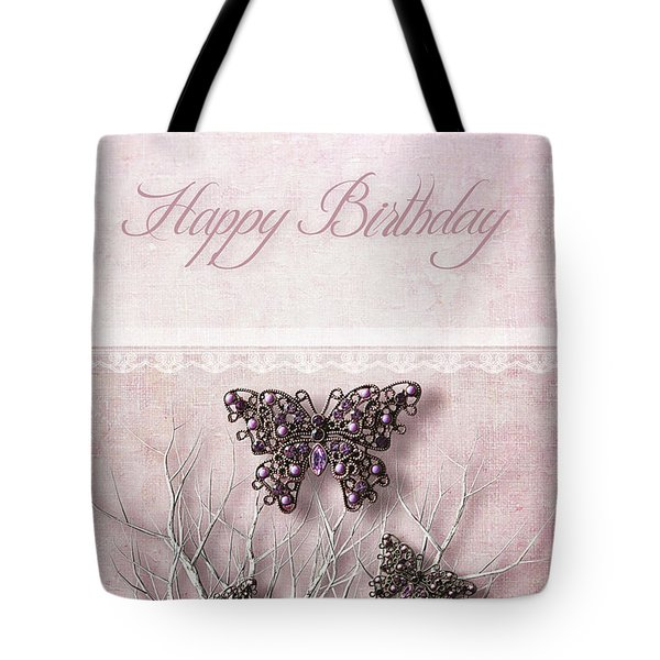 Tote Bag featuring the photograph Butterfly Pendants On Branches by Sandra Cunningham