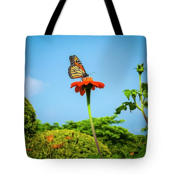 Butterfly Perch Tote Bag
