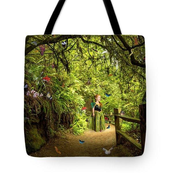 Butterfly Princess Tote Bag