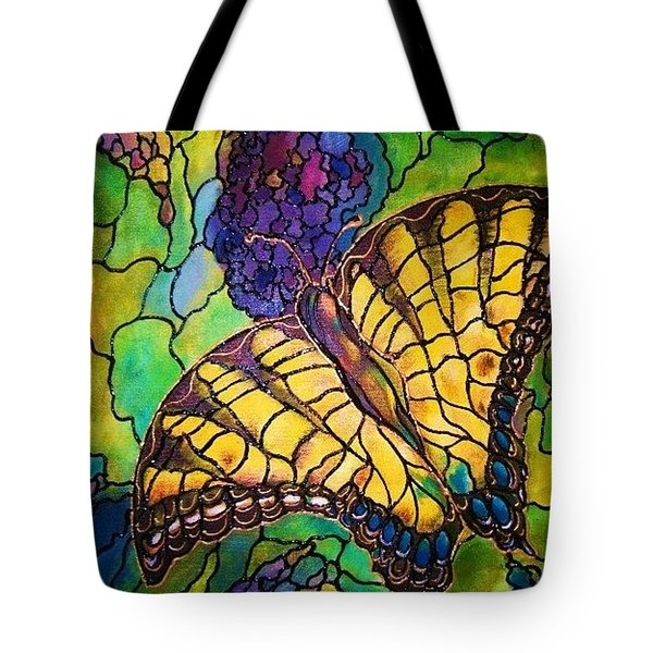 Tote Bag featuring the painting Butterfly by Rae Chichilnitsky