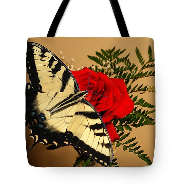 Butterfly Rose Tote Bag