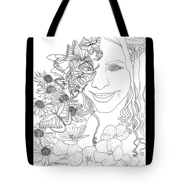 Butterfly Runner Tote Bag