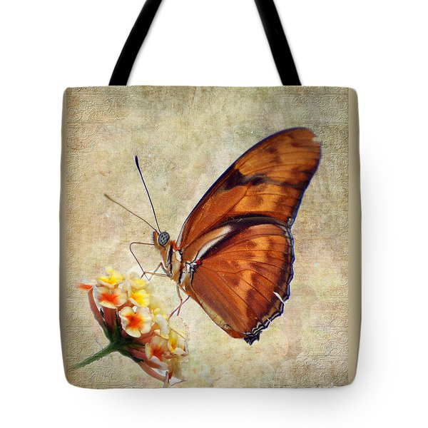 Tote Bag featuring the pyrography Butterfly by Savannah Gibbs