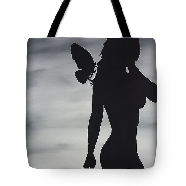 Butterfly Silhouette Tote Bag