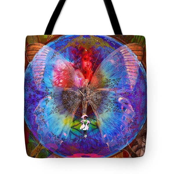 Butterfly Sisterly City Love Tote Bag
