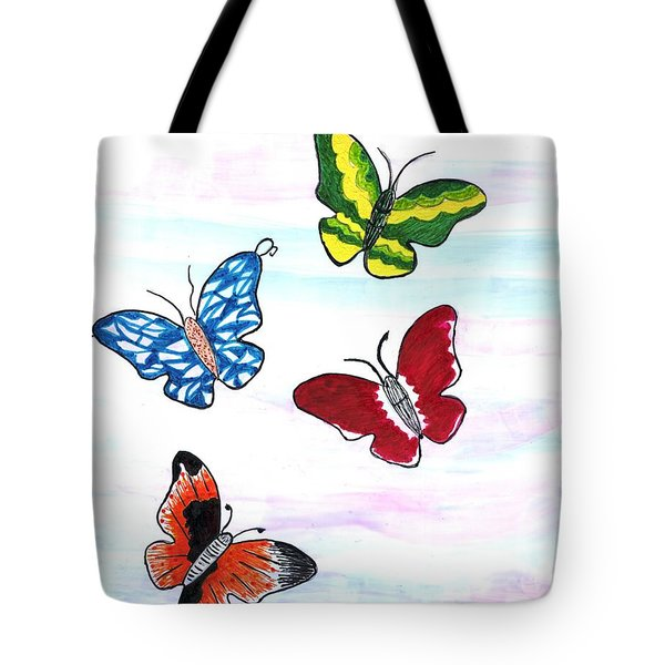 Butterfly Tag Tote Bag