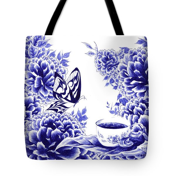 Butterfly Teatime Tote Bag