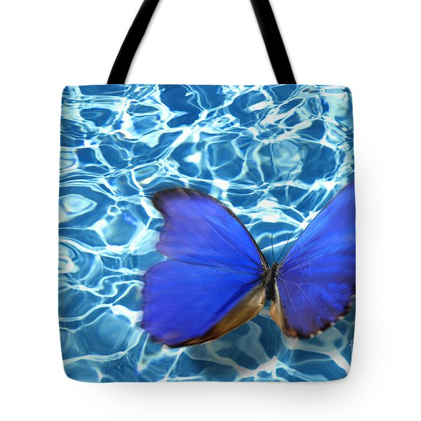 Butterfly Tote Bag by Tony Cordoza