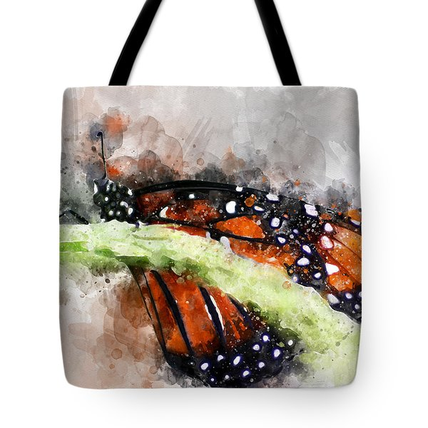 Butterfly Watercolor Tote Bag