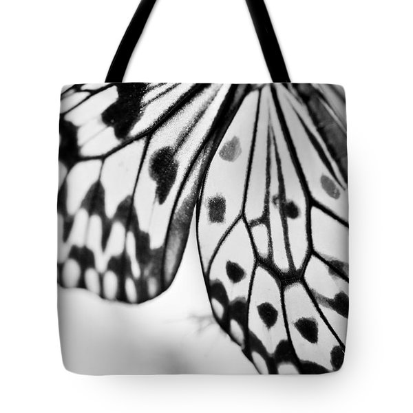 Butterfly Wings 3 - Black And White Tote Bag