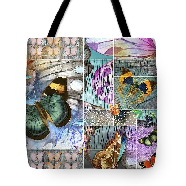 Butterfly Wings Collage Tote Bag