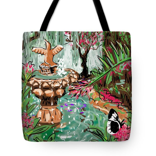 Butterfly World Tote Bag by Jean Pacheco Ravinski