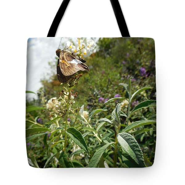 Butterly Flowers Tote Bag