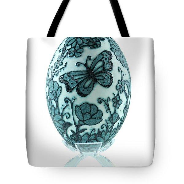 Buttery Fly Garden Emu Egg Tote Bag