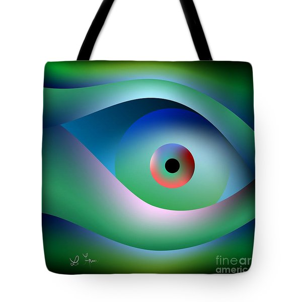 Tote Bag featuring the digital art Button To Fantasy by Leo Symon