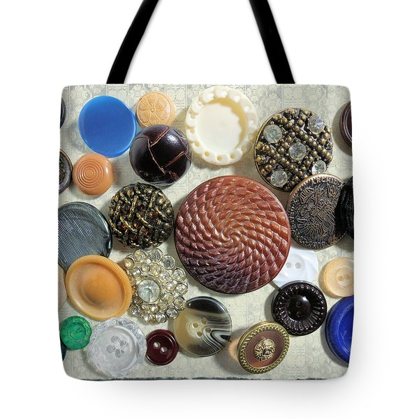 Buttons Tote Bag by Scott Kingery