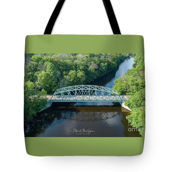 Tote Bag featuring the photograph Butts Bridge Summertime by Michael Hughes