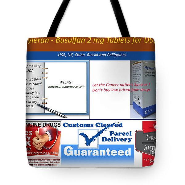 Buy Myleran Tote Bag