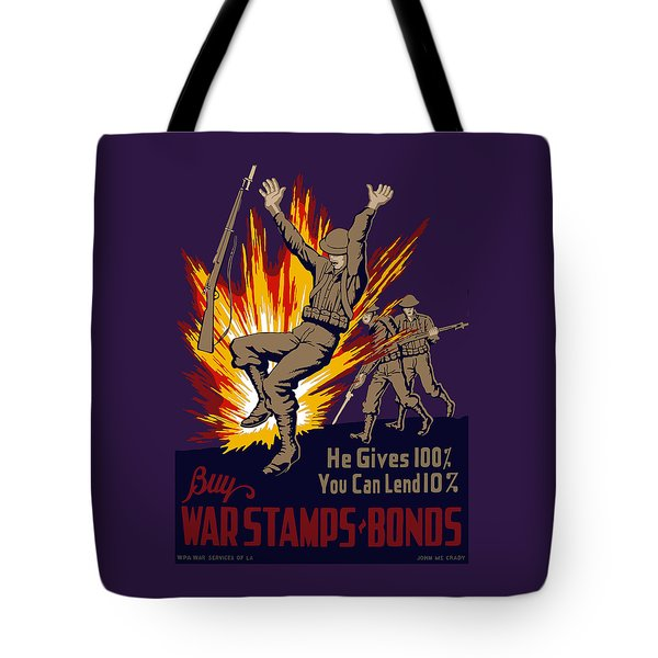Buy War Stamps And Bonds Tote Bag by War Is Hell Store