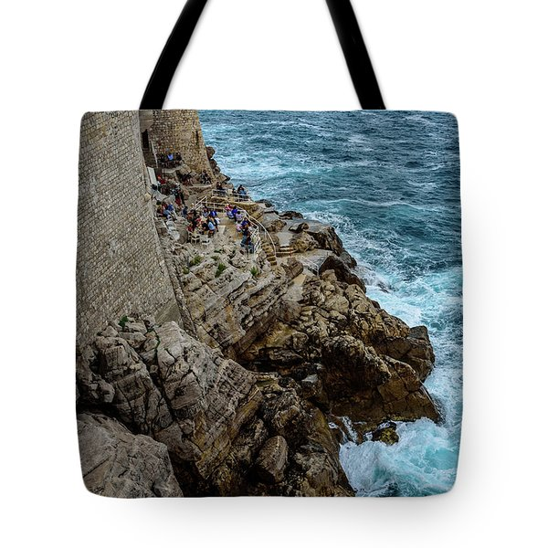 Buza Bar On The Adriatic In Dubrovnik Croatia Tote Bag