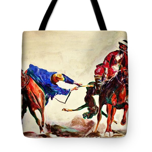 Buzkashi, A Power Game Tote Bag