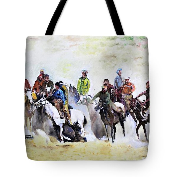 Buzkashi Sport Tote Bag