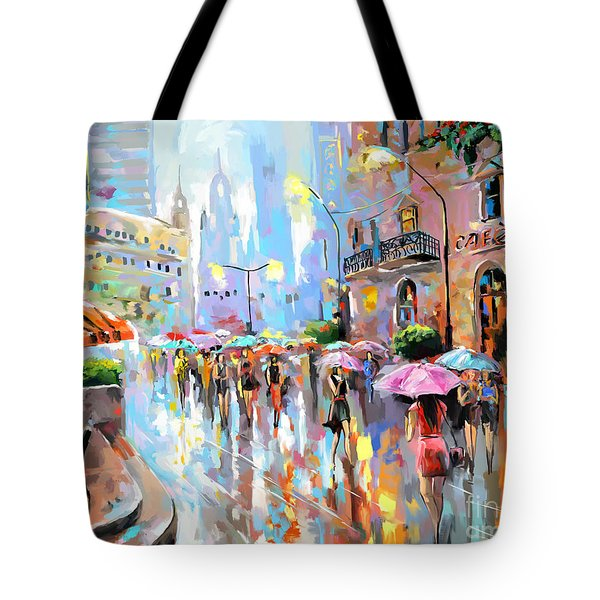 Buzy City Streets Tote Bag