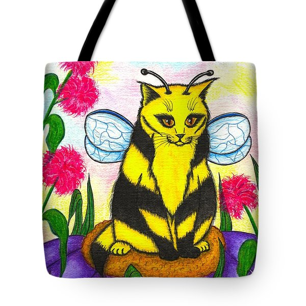 Buzz Bumble Bee Fairy Cat Tote Bag