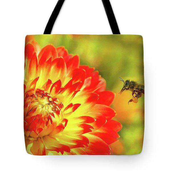 Buzzing Around Tote Bag
