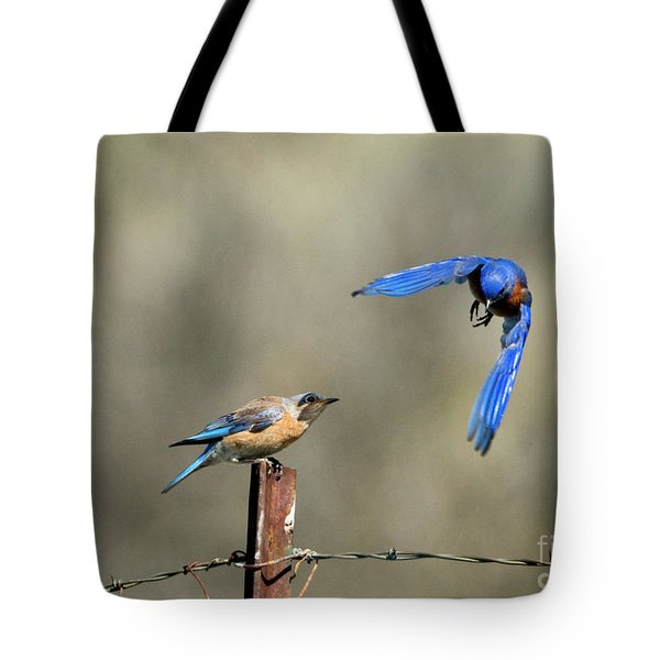 Buzzing By Tote Bag by Mike Dawson